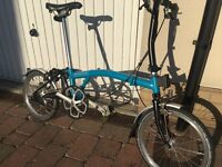 Brompton S3L bike - blue and black, excellent condition. Bought in June 2016