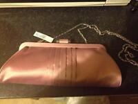 Light pink silk kaliko clutch bag