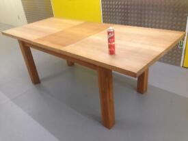 Large Solid oiled oak extendable refectory dining room table Laura Ashley John Lewis habitat loaf