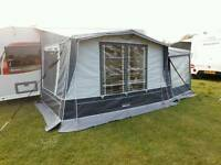 Caravan midi porch awning with tall bedroom annex