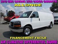 2010 GMC Savana 2500 ALLONGÉ CARGO IMPECCABLE GARANTIE 1 ANS