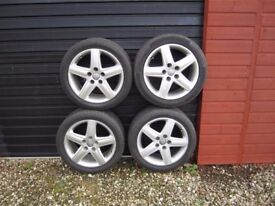 Genuine Audi 17 Inch Alloy Wheels With Tyres.