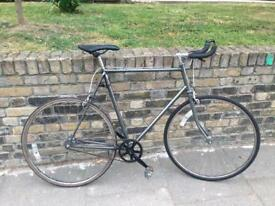 Custom vintage frame single speed road racing bicycle -loads of brand new parts