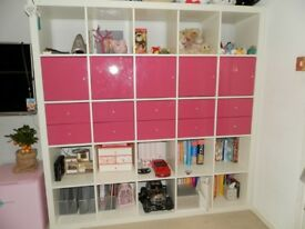 Pretty Pink Shelves Deep Storage