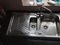 Kitchen sink 1.5bowl Stainless Steel