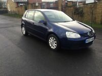 2007 07 Volkswagen Golf 1.9 tdi hpi clear 1 lady owner 5 speed multifunction steering bargain £1499
