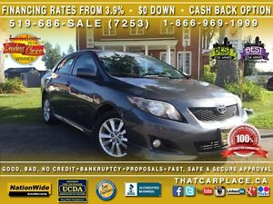 2009 Toyota Corolla S-$42/Wk-AUX/CD/Mp3-Alum Whls-Cruise-Keyless