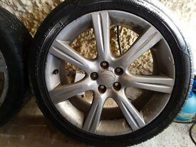 Subaru WRX Enkei Alloys 5x100 17x7 et55 with near new tyres.