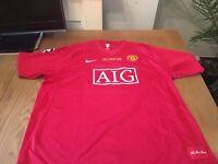 Manchester Utd Moscow 2008 shirt*********