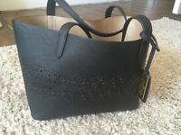 Woman's black mini tote Ralph Lauren bag