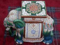 Elephant conservatory stool