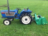 Iseki TU1700 2WD Compact Tractor with new 4ft Flail Mower