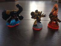 3 mint Skylanders series 2 LEGENDARY characters