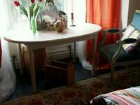 Painted oval table...