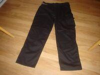 Scruffs Black Worker Trousers 36W 32L - brand new with Tag.