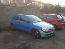 Vauxhall corsa for sale low mileage lovely runner with sunroof