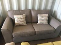 Grey Fabric 2 Seater Sofa (Ex Display)