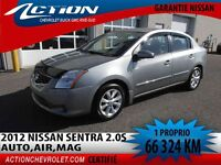 2012 Nissan Sentra 2,0 S,AUTO,AIR,MAG, 1 PROPRIO