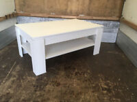 Coffee Table Side Table with Shelf Living Room Sofa Coffee Table Universal Anderson Pine