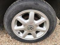 "VW golf mk3 tdi 14"" alloy wheels with 185/60 14 tyres"