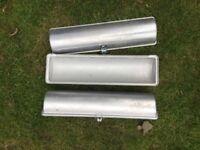 2 Roly Poly tins aluminium