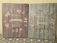 Pastel Toned Canvas Print with Positive Quote