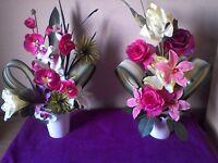 New Silk Flower Arrangements - Wedding/Home or Shop Decoration - REDUCED.