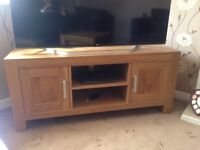 Oak Furniture Land TV Unit and Table Set