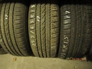 255/65R15 1 ONLY USED GOODYEAR A/S TIRES