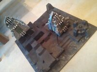 Warhammer 40k 40,000 scenery Necron Tomb Citadel Realm of Battle sector with 2 Monoliths