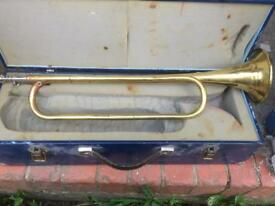 Vintage John grey & sons brass bugle