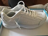 Brand new white trainers size 6