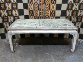vintage Chinese lacquered coffee table heavily distressed retro kitch
