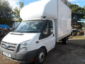 FORD TRANSIT LUTON BOX VAN LONG MOT INSURED CD RADIO TWO KEYS C/L IN EXCELLENT CLEAN CONDITION
