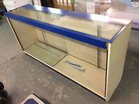 Store / Shop Counter - Wood & Glass - Lockable sliding doors