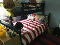 Boys bedroom set, bunk, dresser, night stand, chair