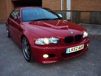 BMW M3 3.2i 2dr COUPE RARE IMOLA RED 343BHP SMG AUTO EXTRAS+BLACK LEATHER+G SERVICE HISTORY+MOT£8500