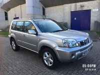 2004 NISSAN X TRAIL SVE 2.2 DCI, TOP OF THE RANGE, NAVIGATION, LEATHER, SUNROOF, F/S/H, LONG MOT,