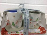 Pimpernel Christmas Wish Mugs and Tray Set