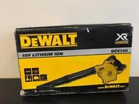 NEW DEWALT DCV100 18v LEAF / WORKSHOP / SITE BLOWER