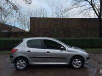 Peugeot 206 1.6 GLX petrol 51 reg 5 door 12 months mot alloys cd autochanger low insurance 40+ mpg