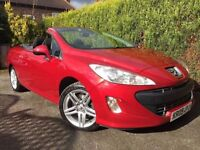 **STUNNING** 2009 PEUGEOT 308 CC SE HDI 2.0 RED CONVERTIBLE DIESEL MANUAL SPORT GT