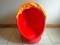 Children's swivel egg chair
