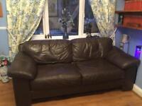 Ultra comfy chocolate brown Leather sofa