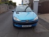 Peugeot 206 with 10 months mot