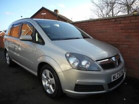 2008 vauxhall zafira exclusive{finance,warranty ava,7 seater}long mot/clean car