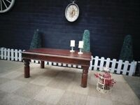 INDONESIAN WOOD LARGE COFFEE TABLE VERY SOLID TABLE AND IT'S IN VERY GOOD CONDITION 100/60/41 cm £45