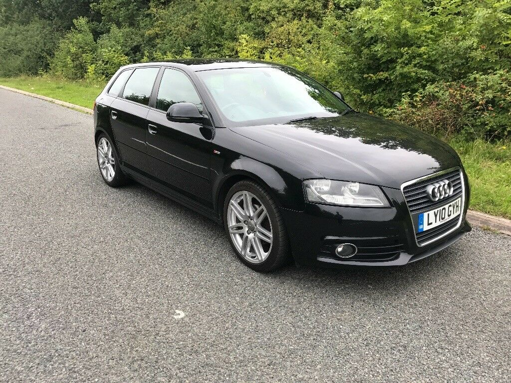 2010 audi a3 sportback 8p facelift tdi s line s tronic 5dr 30 road tax diesel auto in. Black Bedroom Furniture Sets. Home Design Ideas