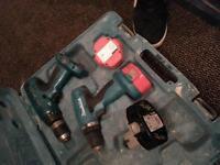 makita 18v power drills x2