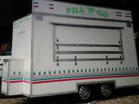 A&R PROFESSIONAL MANUFACTURED 12' X 7' CATERING TRAILER WITH GENERATOR & COFFEE MACHINE.